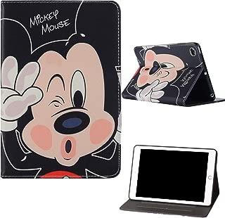 Microgadget iPad Pro 9.7 inch 2017/2018 iPad 5/6/7/8 iPad Air/Air2 Flip Case Cover with Auto Sleep/Wake Function Stand Mickey Minne Disney Cartoon Kids iPad Case for Apple