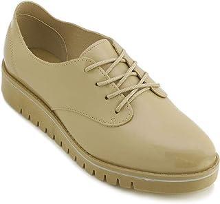 Sapato Oxford Tratorado Beira Rio Conforto Bege