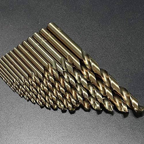 ShiSyan Taladro 15pcs / Set de Metal de perforación eléctrica, 1.5-10mm HSS-Co M35 Cobalto Fresa Espiral bit 40-133mm de Longitud Power Tools Madera Brocas
