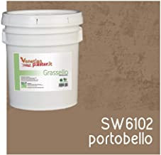 FirmoLux Grassello Authentic Venetian Plaster   Polished Plaster   Made in Italy from Lime, Marble & Other Natural Aggregates   Brown Tone Colors (19)   Color: SW6102 Portobello