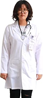Sponsored Ad - JONATHAN UNIFORM Unisex White Coat Workwear, Long Sleeves Work Jacket, 3 Pockets Uniform for Men and Women