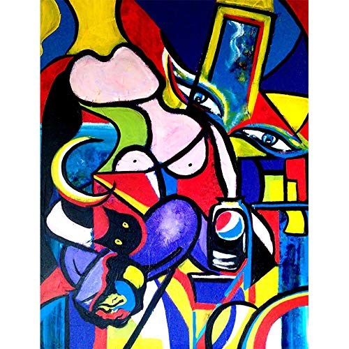 Famous Canvas Painting Replica Picasso'S Woman Art Graffiti Wall Prints And Posters Paintings Home Living Room Decoration-60x90cm No Frame