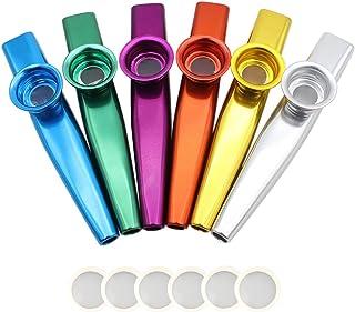 comprar comparacion Nouvelife–Juego de 6 mirlitones de aleación de aluminio, longitud de 12cm con membrana, para acompañamiento de guitarra...