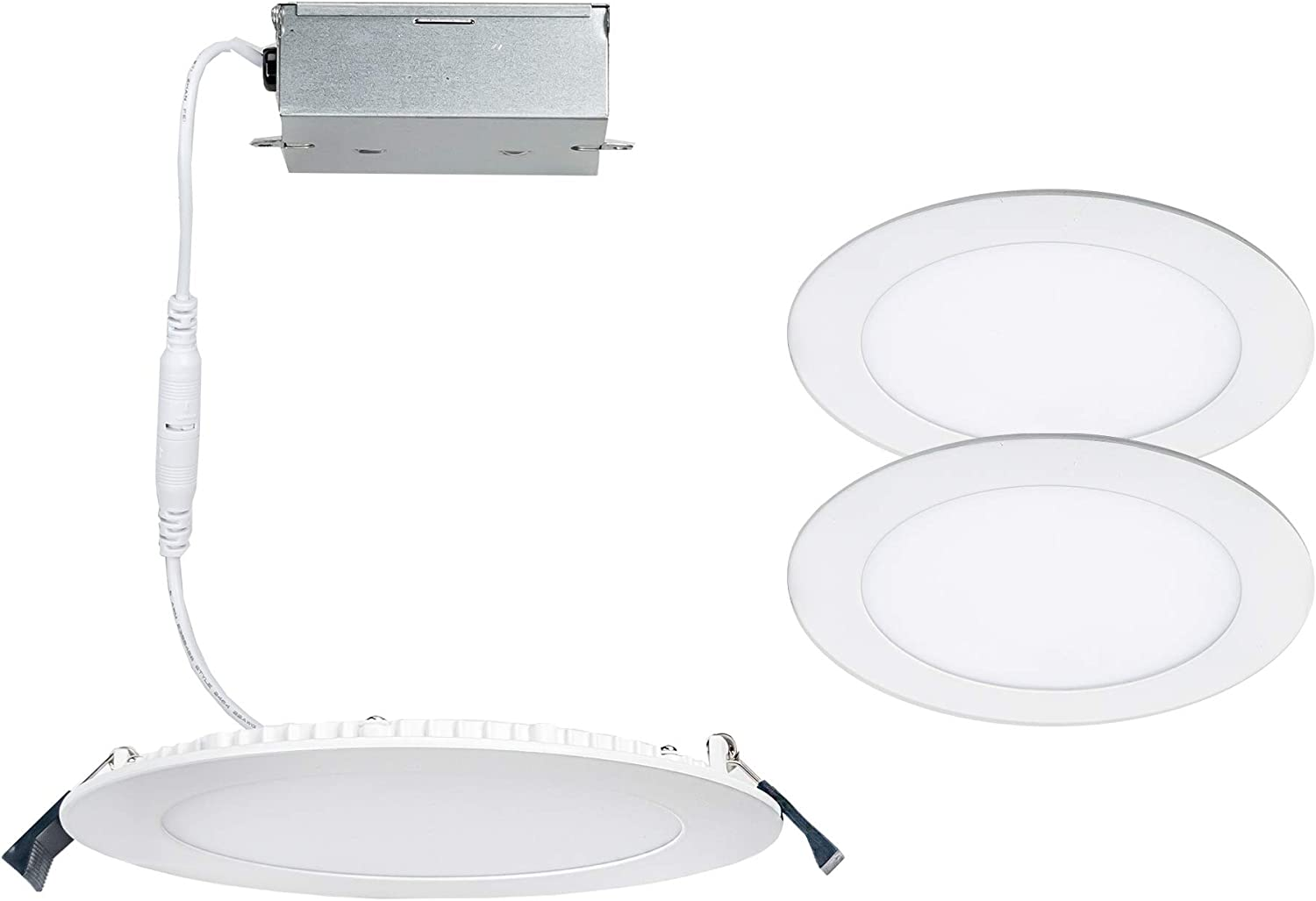 Lotos 4in San New Shipping Free Shipping Antonio Mall LED Round Recessed Kit White Pack of 2 3000K in
