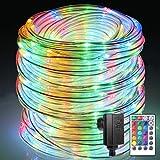 Cadena de luces exterior B-ight Manguera de luz LED, Cadena Luz con Mando a operable, impermeable...