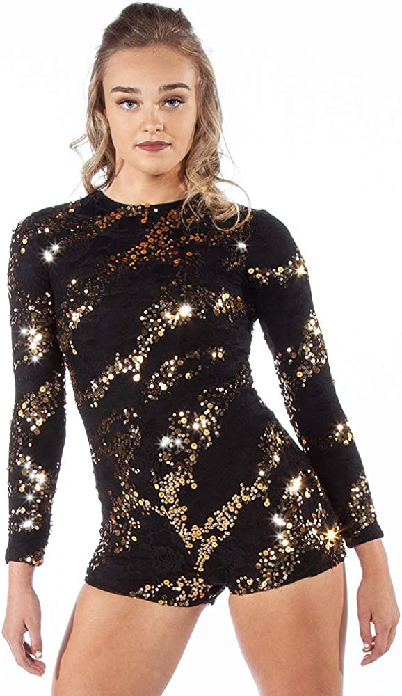 Sequin Quality inspection Stretch Lace Biketard Sale item Unitard Girl Leotard Womens Dance