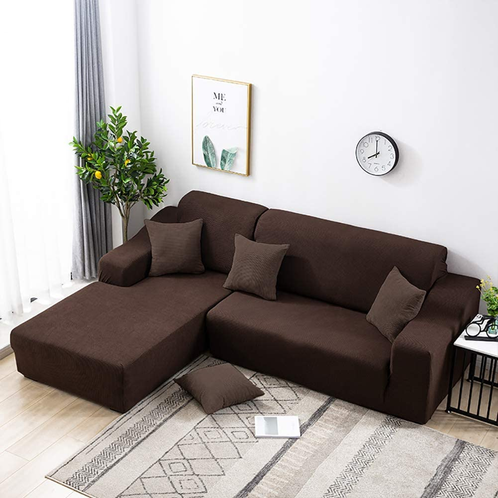 Max 53% OFF NuAnYI Stretch Sofa Cover for Sectional Piece L-Shaped 1 S favorite Couch