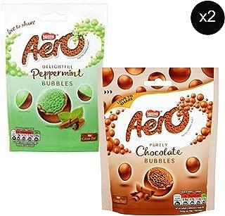 Nestles Aero Bubbles Milk Chocolate Pouch 102g x2 + Nestles Aero Bubbles Peppermint Chocolate Pouch 102g x2