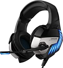 Gaming Headset-Xbox K5PRO One Headset PS4 Headset with Noise-canceling Microphone and 7.1 Surround Sound, Gaming Headset f...
