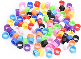 Dengguoli 100PCS 8mm Colorful Plastic Bayonet Identification Ring Pigeon Foot Rings, Leg Rings Band for Pigeon/Poultry/Birds Without Number