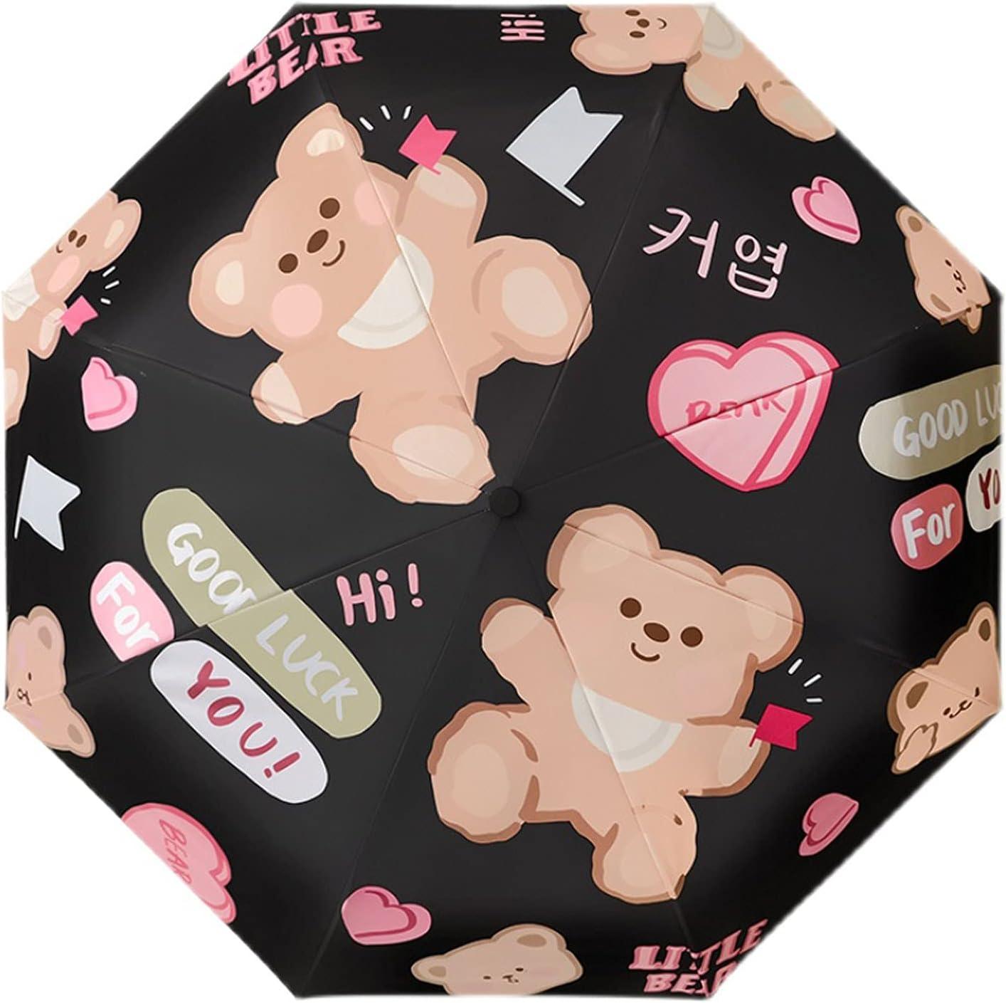 Luxury VWJFHIS Umbrella Women's Year-end gift Rain and Dual-Purpose Light Folding Sun