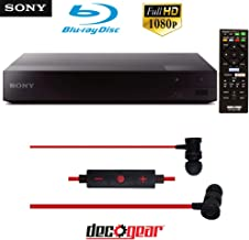 $102 » Sony Wi-Fi Streaming Blu-ray Disc Player (BDP-S3700) with Deco Gear in-Ear Headphones