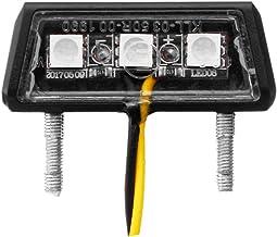 Babysbreath17 Universal Auto Moto Minuscule Num/éro arri/ère Feu en Forme de Plaque de Plaque 3 Micro 12V LED Blanche Lampe de Voiture Outerior Accessary
