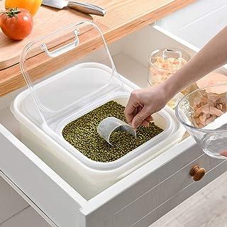 Étui en plastique avec couvercle rabattable à couvercle rabattable pour bacs de riz avec tasse à mesurer Boîte de rangemen...