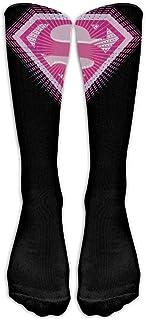 f7713c391 Unisex 2015 Superman Supergirl Pink Logo Tube Socks Knee High Sports
