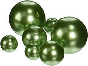 Firefly Imports Homeford Assorted Plastic Bead Pearls, Apple Green, 14mm/20mm/30mm