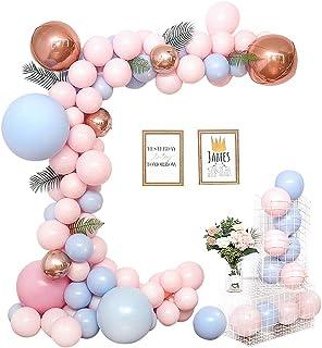 Fontee® 115pcs Ballons de la Saint-Valentin, Macaron Ballons Chain Set Pastel Balloons Arch Anniversaire Mariage Valentin...