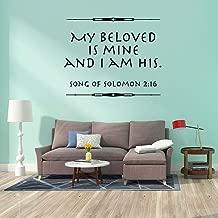 Creativo mi Amado es mi Etiqueta de la Pared Impermeable Etiqueta de Vinilo Decorativa decoración del hogar Papel Tapiz 42x51cm