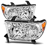 Best Headlights - AUTOSAVER88 Headlight Assembly Compatible with 2007-2013 Tundra /2008-2017 Review