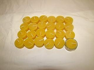 24 St Teelichter mit einer Glasschale