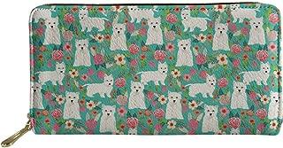 Long Wallet for Women Ladies Girls Adorable Cartoon Puppies Dog Design Card Holder Clutch