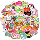 Waterproof Vinyl Vsco Stickers for Water Bottle Laptop Aesthetic Gifts(50 Pcs Cute Girl Style)