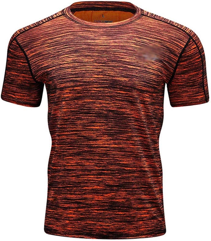 Hyue Men's Gymnastic Inadequate Sleeve Baselayer Shirts Sports Compression Shirts