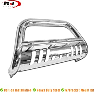 R&L Racing Chrome SS Bull Bar Brush Push Bumper Grill Grille Guard 2004-2016 for F150 Non-Ecoboost