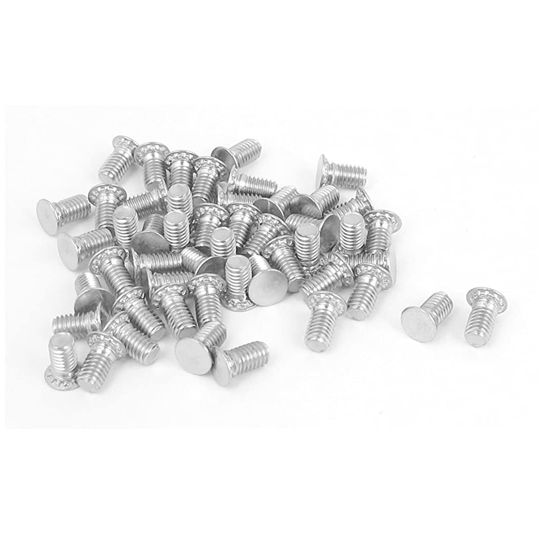 Uxcell a15101500ux0541 M3x6mm Flush Head Stainless Steel Self Clinching Threaded Studs 50pcs