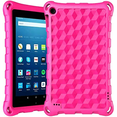 Amazon Com Fire 7 Tablet Case Amazon Fire 7 Case Dihines Light Weight Kids Friendly Protective Case Cover For Kindle Fire 7 Tablet 2019 2017 2015 Rose Computers Accessories