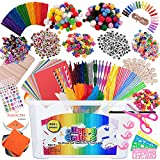 Arts And Crafts Supplies Kit For Kids- Bulk Box Of Premium Supplies- These Ultimate Art & Craft Boxes Include 1500+ Pieces To Complete Your Craft Library Set For Toddlers Preschoolers Kids of all ages