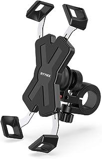 دوچرخه تلفن دوچرخه - دارنده تلفن دوچرخه RYYMX: مجهز به تلفن همراه قابل تنظیم با چرخش 360 درجه برای آیفون Xs Max XR X 8 7 6 Plus ، سامسونگ S10 + S9 S8 ، نوت 10 9 8 ، GPS ، تلفنهای همراه آندروید 4-7 اینچ