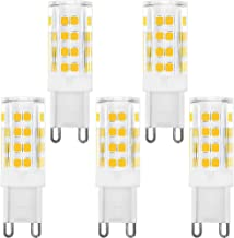 KINDEEP Dimmable G9 LED Bulb 40W Equivalent, AC 120V 4W, Warm White 3000K, 360 Degree Beam Angle, Pack of 5