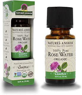 Nature's Answer USDA Organic Rosewater Essential Oil, 100% Pure   Natural Aromatherapy Oil for Diffuser/Humidifier, Steam ...
