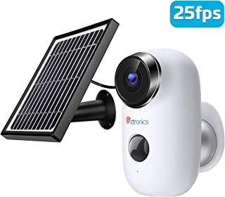 Cámara de Seguridad con batería Solar para Exteriores de 1080P cámara Ctronics IP inalámbrica con cámara IP alertas Alarma PIR visión Nocturna Audio bidireccional Resistente al Agua