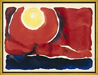 Berkin Arts Framed Georgia O'Keeffe Giclee Canvas Print Paintings Poster Reproduction (Evening Star No. VI)