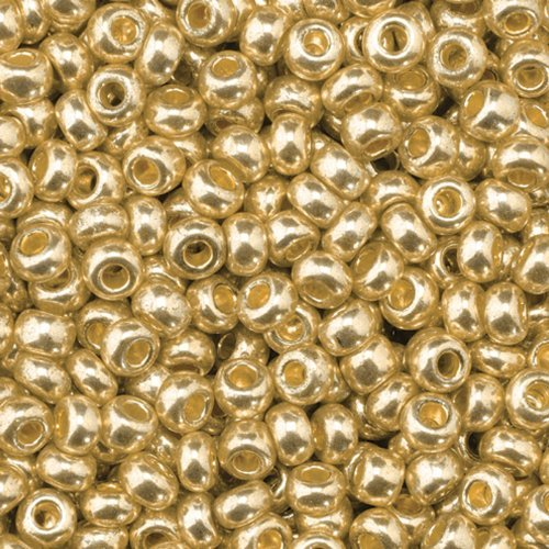 EFCO 1024396 3.5 mm 17 g Indianerperlen Metallic, Old Gold