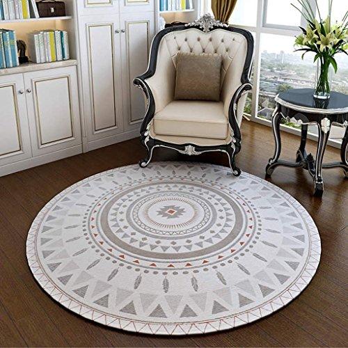 alfombra escandinava Round Carpet Study Computer Pad/Bedroom Bedside Stair Carpet Estera (Tamaño : 120 * 120cm)