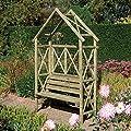 Rustic Wooden Garden Arbour Seat OGD044
