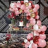 SPECOOL Décoration d Anniversaire de Ballon Rose Doré , Blanc , Rouge , Fête Anniversaire Mariage ou événement de Famille ,Fournitures de Fête, 115 PCS