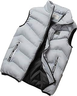 Elonglin Men's Padded Vest Body Warmer Sleeveless Jacket Quilted Gilet Puffer Waistcoat