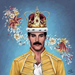 5D DIY Diamond Painting Queen Band Freddie Mercury 16X16 inches Full Round Drill Rhinestone Embroidery for Wall Decoration