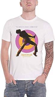 公式 Bohemian Rhapsody T Shirt Queen Fearless Movie 新しい 公式 メンズ