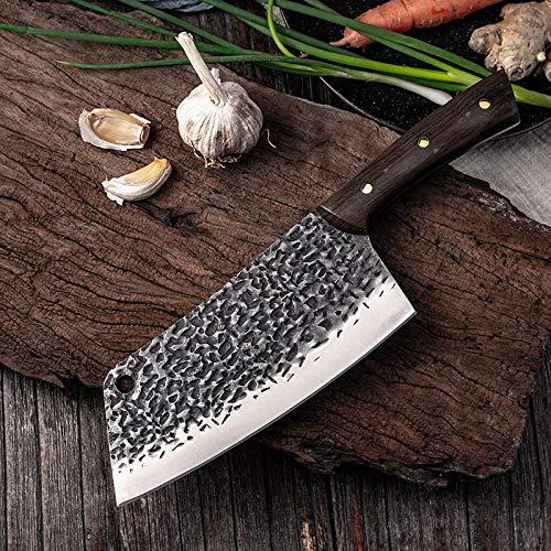 Couteau de cuisine Forged Couteau de chef Marteau Lame Cleaver Cutter chinois Chopper Slicing en acier inoxydable Couteaux de cuisine Accessoires de cuisine