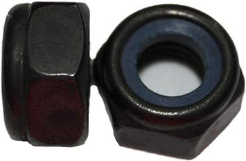 10, M8 selbstsichernde Mutter Edelstahl schwarz DIN 985 A2 M3 M4 M5 M6 M8 M10 Stoppmutter Sicherungsmutter