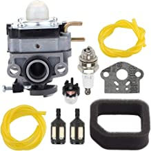 Fuel Li 753-06258A Carburetor for Ryobi RY251PH RY253SS RY252CS 2 Cycle 25cc Engine Cultivator String Trimmer Edger with 560873001 Air Filter