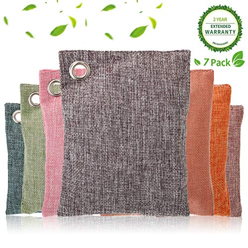 Review 100% Bamboo Charcoal Air Purifying Bag (7 Pack), 100g Natural Activated Air Freshener Bags Ec...