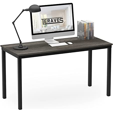 """Teraves Computer Desk/Dining Table Office Desk Sturdy Writing Workstation for Home Office (39.37"""", Black Oak)"""