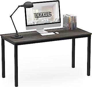 """میز کامپیوتر / میز ناهار خوری Teraves ایستگاه کاری نوشتن محکم برای دفتر کار داخلی (39.37 """"، بلوط سیاه)"""