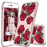 MOSNOVO Coque iPhone 6 Plus, Coque iPhone 6S Plus, Roses Rouges Flower Fleur Clair Design Motif Arrière avec TPU Bumper Gel Coque de Protection pour iPhone 6 Plus/iPhone 6S Plus(Red Roses)